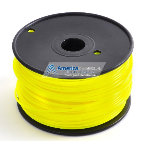 Jet - ABS (1.75mm, Yellow color, 1.0kg =2.204lbs) Filament on Spool for 3D Printer MakerBot RepRap MakerGear Ultimaker & Up!