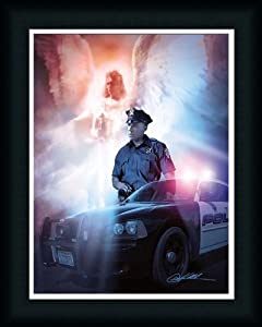 Amazon.com: Got Your Back Police Angel Over Shoulder 16x20 Framed Art