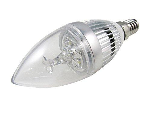 Minkle® 3W E14 LED dimmbare Kerze Lampe Licht Leuchte Kronleuchter Kugel-Birne (1, 220V und Kaltweiß)