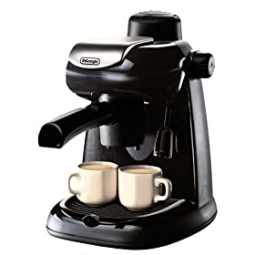 DeLonghi EC5 Steam-Driven 4-Cup Espresso and Cappuccino Maker, Black