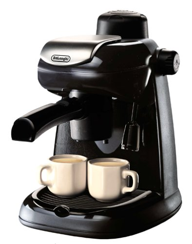 Why Should You Buy DeLonghi EC5 Steam-Driven 4-Cup Espresso and Cappuccino Maker, Black