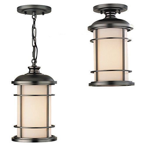 Feiss Lighthouse Outdoor Hanging/Ceiling Light - 12.5H in. Burnished