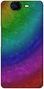 Snoogg Wave Rainbow 2403 Designer Protective Back Case Cover For Micromax Canvas Knight A350