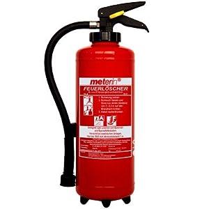 Meterin Feuerlöscher  Fettbrandlöscher  Fettbrand  Aufladelöscher 6 Liter MF 6 H 52 inkl. Halterung  BaumarktKundenbewertung und Beschreibung
