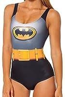 Bestchoice2go Marvel DC Comics Wonder Woman Joker Batman Digital Print Tight Stretch One Piece Swimsuit