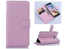 Samsung Note 5 Flower Wallet Case-Aurora® Purple Samsung Note 5 TPU Leather Wallet Card Slot Cover with Strap and Kickstand for Samsung Galaxy Note 5