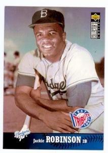 Jackie Robinson baseball card (Brooklyn Dodgers) 1997 Upper Deck #55