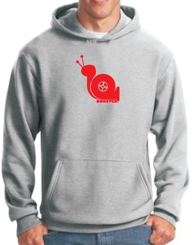 'Boosted Snail' Turbo Snail Hoodie (Xl, Ash) front-886283