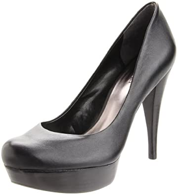 guess adriena 2 leather platforms heels shoes