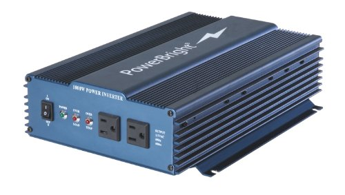 Power Bright APS1000-12 Pure Sine Power Inverter 1000 Watt continuous / 2000 watt Peak 12 Volt DC To 120 Volt AC (Power Bright compare prices)