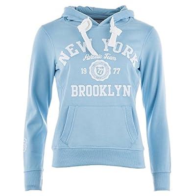 Smith And Jones Damen New York Kapuzenshirt Blau Baumwollmischung