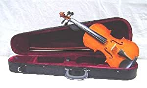 Crystalcello MV100 1/10 Size Violin with Case + Bow + Accessories - Natural Color