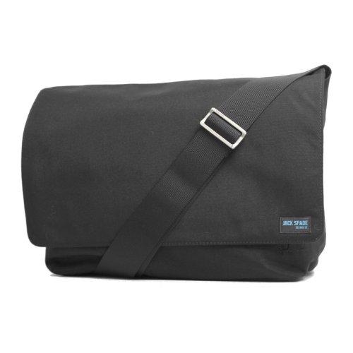 ジャックスペード JACK SPADE COMPUTER FIELD BAG NYRU0369 メンズ レディース 鞄 01.ブラック フリー [並行輸入品]