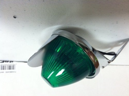 Green Large Bee Taillight with Visor Bicycle Light
