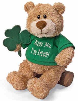 Good Luck Kisses Teddy Bear with Sound - 1