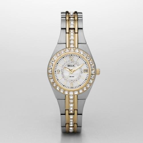 Relic Queens Court Two Tone Watch