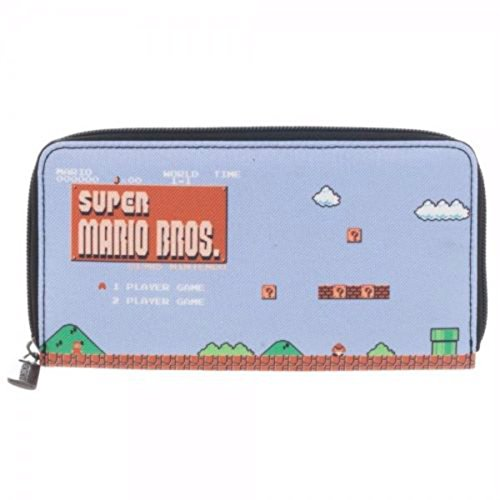 Nintendo Super Mario Brothers Zip Up Wallet