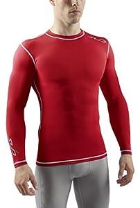 SUB Sports DUAL T-shirt de Compression Manches Longues Homme - Rouge - L