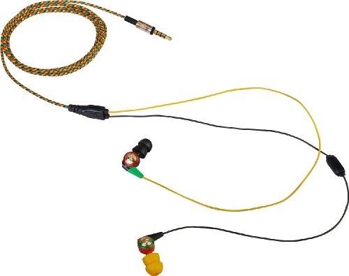 Aerial7 Neo Earbud Headphones Dark Rasta, One Size