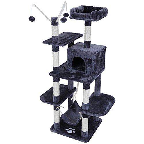 Songmics-rbol-para-gatos-Rascador-con-nidos-hamaca-plataformas-bolas-de-juego-154-cm-colores-opcionales