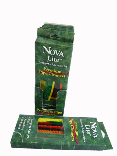 60 Count - Nova Lite Premium Pipe Cleaners - Assorted Colors - 6 Inch