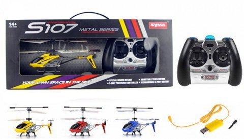 2 Selectable Frequencies Let'S You Fly Up To 2 Helicopters At Once - Syma S107/S107G R/C Helicopter *Colors Vary