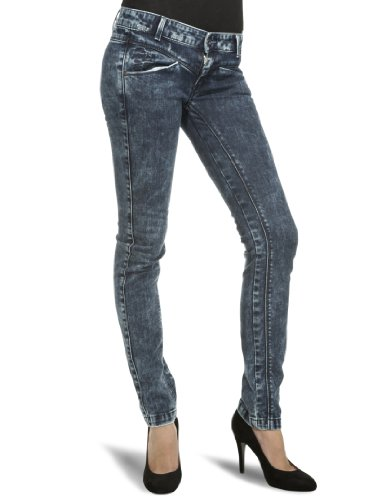 Killah Women's Stacy Skinny Jeans Bleached Mid Blue Denim 30W