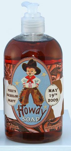 Dolce Mia Howdy Sweet Almond Natural Liquid Soap with Olive Oil 12 oz. Pump (6 per order) Personalized Gift Favors