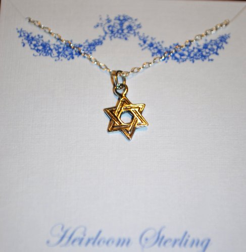 DR - Small Childrens Necklace, Girls or Boys, Star of David