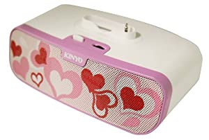 Kinyo MS-780H 2.0 Portable Speaker System with Love Heart Graphic specially designed with a cradle to fit all iPod nano and shuffle Support the latest 6G nano with build in antenna from Kinyo