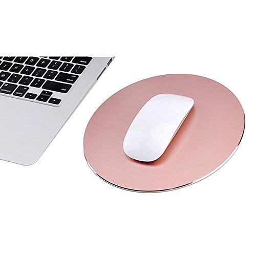 alfombrilla-de-raton-gaming-de-juego-raton-metal-estera-circular-aluminio-impermeable-reversible-con
