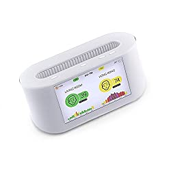 Atlanta Healthcare AirVisual Node High Accuracy Laser PM2.5, CO2, Humidity, Temperature, Wi-Fi Intelligent Air Quality Monitor (White)