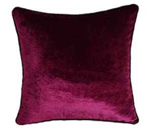 Amazon.com - NAVA Plum Velvet Pure Color Modern Art Pillow Case Cushion Cover Sham Throw Case ...