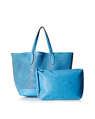 Nila Anthony Women's Square Perforated Tote, Blue