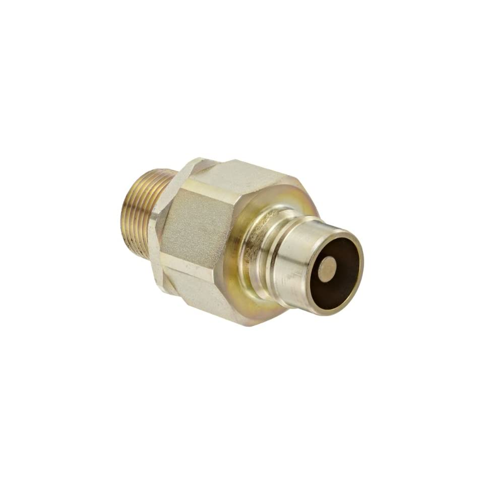Snap Tite VHN12 12M Zinc Plated Steel H Shape Quick Disconnect Hose Coupling, Nipple, 3/4 NPTF Male x 3/4 Coupling Size