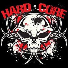 Hardcore Skull Nuclear Skull Design, Gothic Biker Chopper T-shirt, XXX-Large, Olive Green