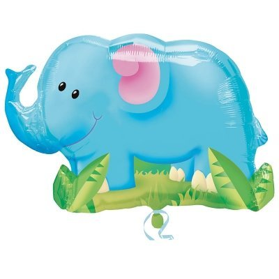 Mayflower Distributing - Jungle Party Elephant Shaped Foil Balloon - 1