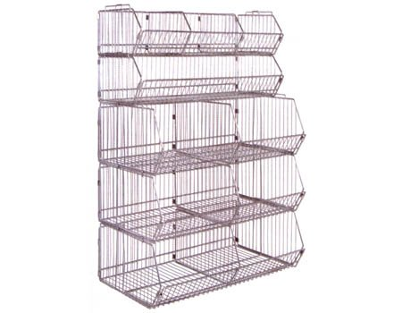 Modular Wire Bin - Complete Unit - Stationary