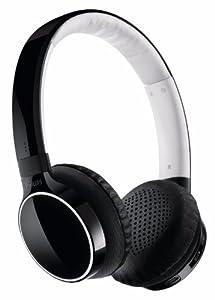 Philips SHB9100/00 Bluetooth Kopfhörer mit Freisprechfunktion (USB Ladekabel 3,5mm), schwarz