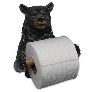 River's Edge Unique Poly Resin Design Cute Bear Toilet Paper Holder