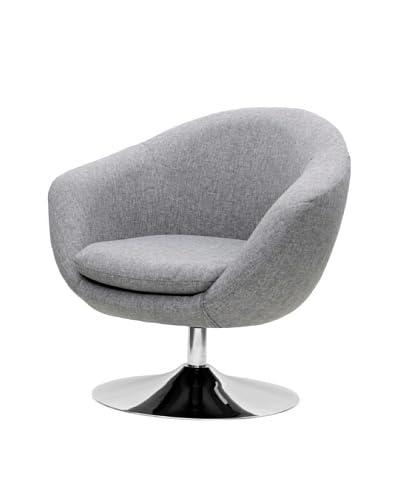 Overman International Disc Base Comet Chair, Light Grey