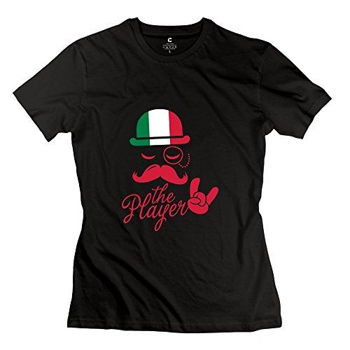 Tgrj Women'S Tshirts - Cute Italian Gentleman T Shirt Black Size L
