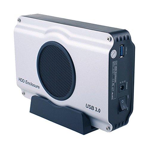 WANLONGXIN WLX-393U3 USB 3.0 TO 3.5 Inch SATA I/ II/ III Aluminum Hard Drive Enclosure Case with Cooling Fan (Maximum support 8TB) (Hard Drive Cooling compare prices)
