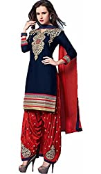 KANHA TRADING Womens Cotton Unstitched Salwar Suit Dress Material (KANHA TRADING 1576_ Multicolor_Freesize)