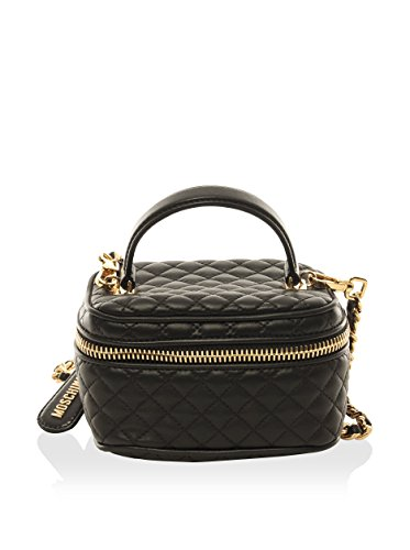 Moschino Women's Quilted Handbag, Black, Mini