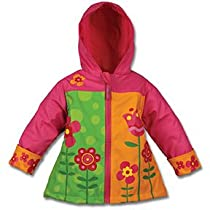 Stephen Joseph Girls Rain Coat, Flower, 4T