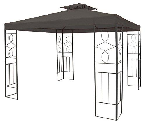 WASSERDICHTER Pavillon 3x3m Anthrazit ROMANTIKA inkl. 310g/m² Dach Festzelt wasserfest Partyzelt bestellen