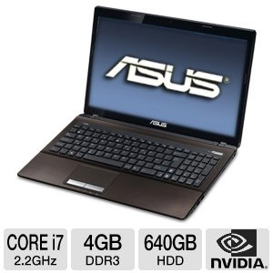 ASUS A53SV-TH71 15.6 Black Laptop / Intel Core i7-2670QM / NVIDIA GeForce GT 540M graphics (1GB VRAM) / 4GB DDR3 / 640GB unavoidable drive