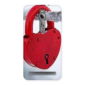 Ajay Enterprises Ft Red Lock Multicolors Back Case Cover for Asus Zenfone 2
