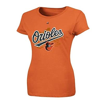 MLB Majestic Baltimore Orioles Ladies Hype-Tastic T-Shirt - Orange